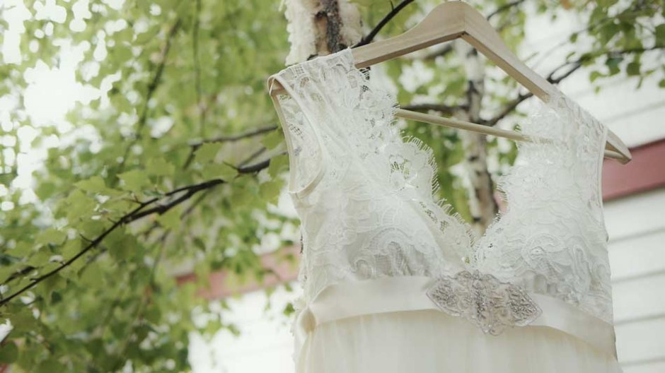 Wedding dress video still by Mountain Wedding Videos