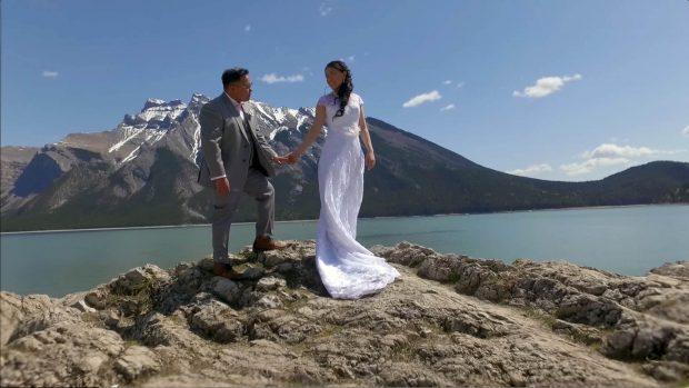 Lake Minnewanka wedding video